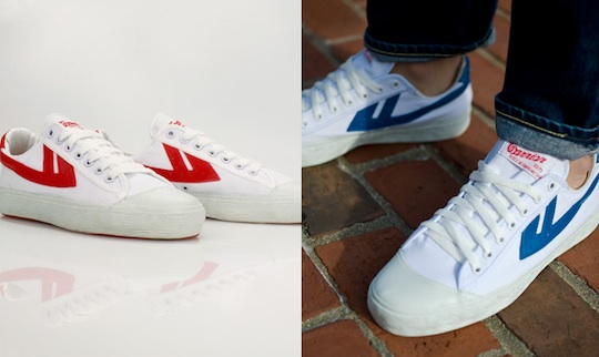 Classic Red/White and Classic Blue/White Warrior Footwear Shoes