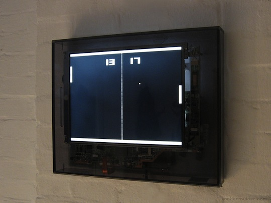 Pong Clock by Sander Mulder
