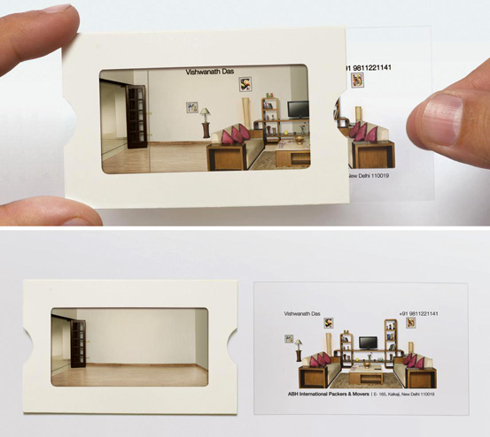 Another clever business card design holiday matinee related the art of the business card colourmoves Images