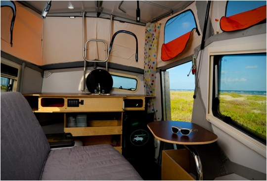Living In A Pop Up Camper : If I had to live in a van down by the river, this trailer ...