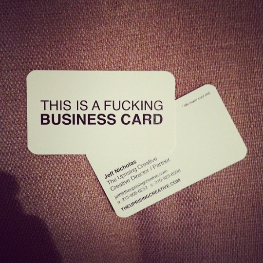 business card, funky, cool shit, awesome, weird