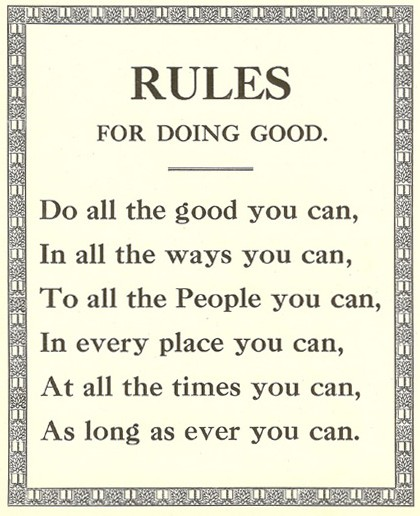 People Doing Good Things For Others Rules for doing...