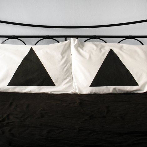 triangles pillow cases