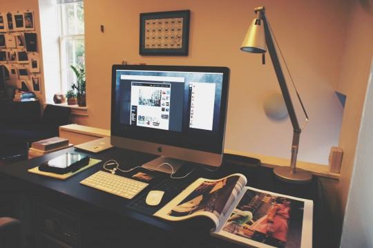 Taj's workspace at wejetset