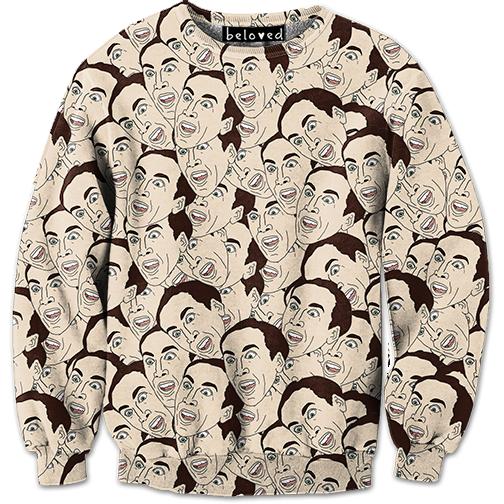 Nic Cage And Morgan Freeman Sweatshirts For All Holiday